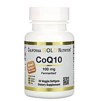 Коэнзим Q10, California Gold Nutrition, CoQ10, 100 мг, 30 капсул, фото 1