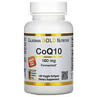 Коэнзим Q10, 100 мг, 120 капсул,California Gold Nutrition, CoQ10, Naturally Fermented, фото 1