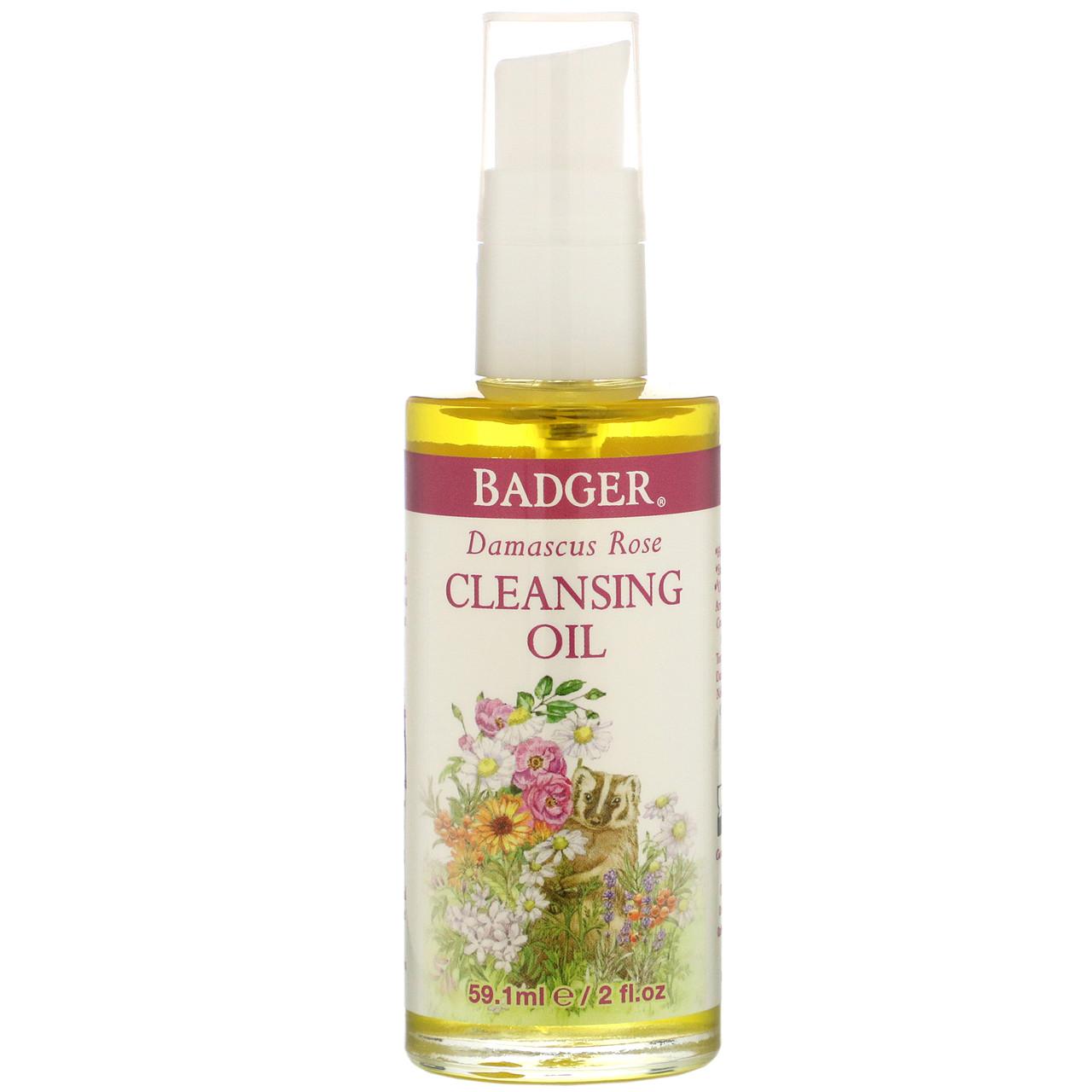 Очищаючий масло з дамаської трояндою, Badger Company, 59,1 мл