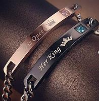 Парні браслети для закоханих, комплект + подарункова коробочка