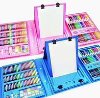 Дитячий набір для малювання у валізці з мольбертом 208 предметів