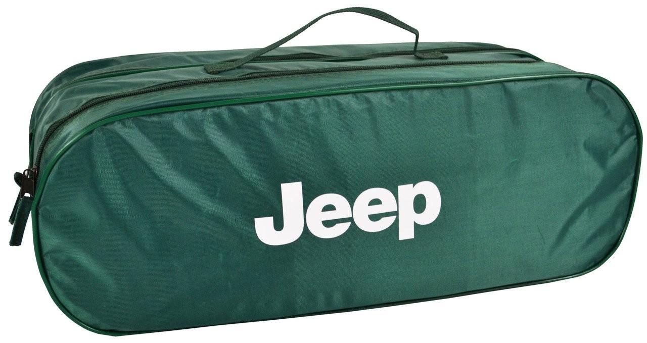 Сумка-органайзер в багажник Джип зелена розмір 50 х 18 х 18 см