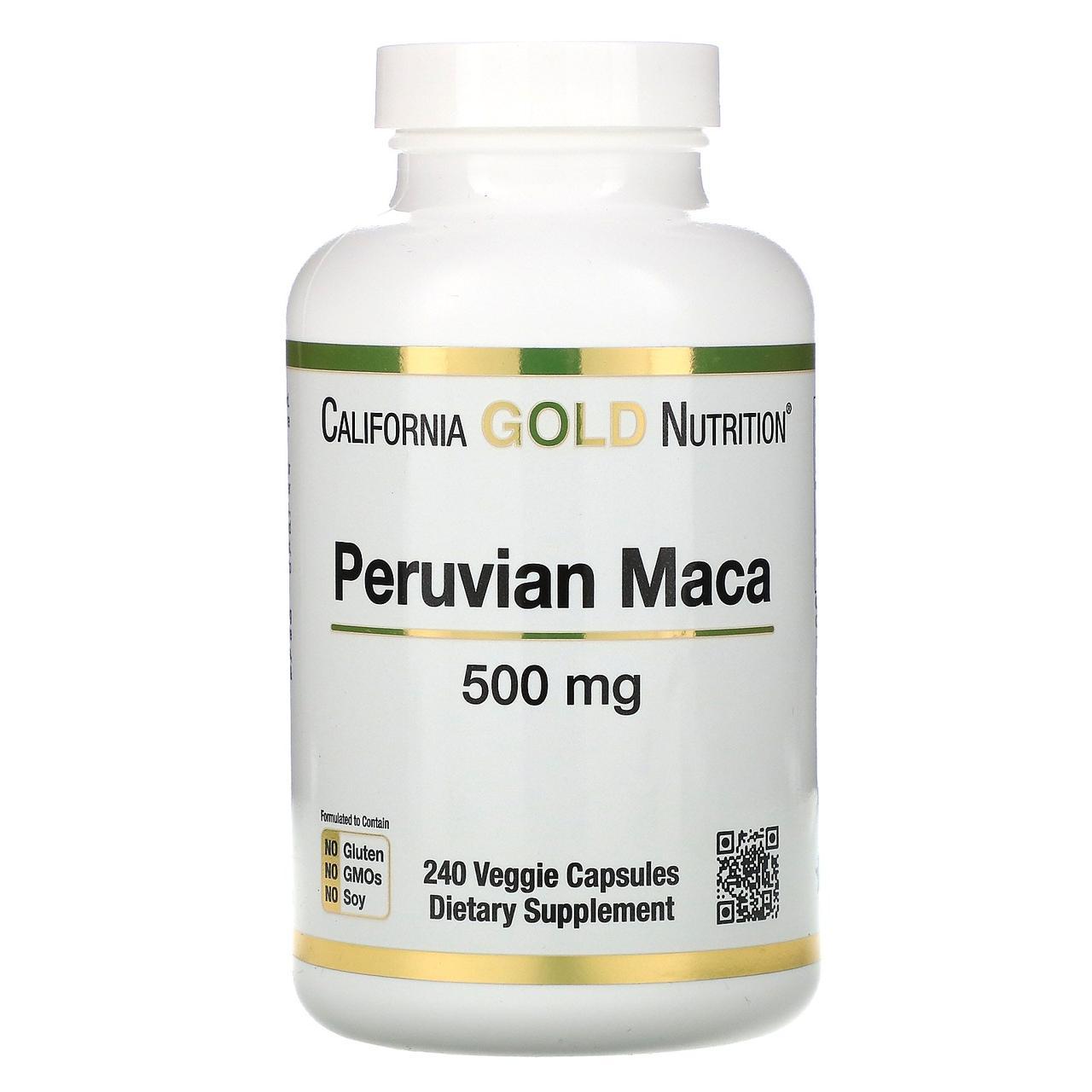 Мака, экстракт, California Gold Nutrition, 500 мг, 240 растительных капсул
