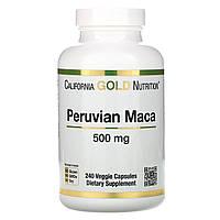 Мака, экстракт, California Gold Nutrition, 500 мг, 240 растительных капсул, фото 1