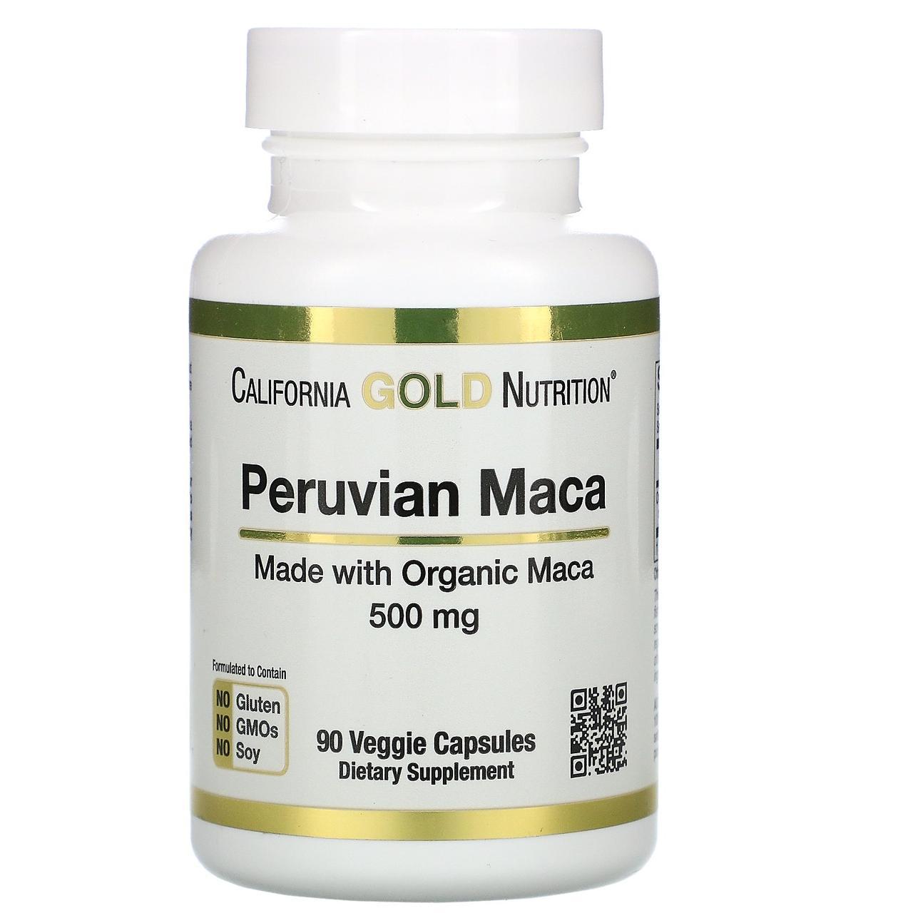 Маку, 500 мг, 90 капсул, California Gold Nutrition