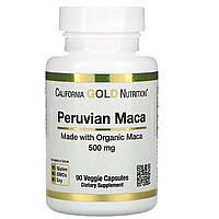 Маку, 500 мг, 90 капсул, California Gold Nutrition, фото 1