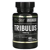 Трибулус, California Gold Nutrition, 1000 мг, 60 таблеток., фото 1