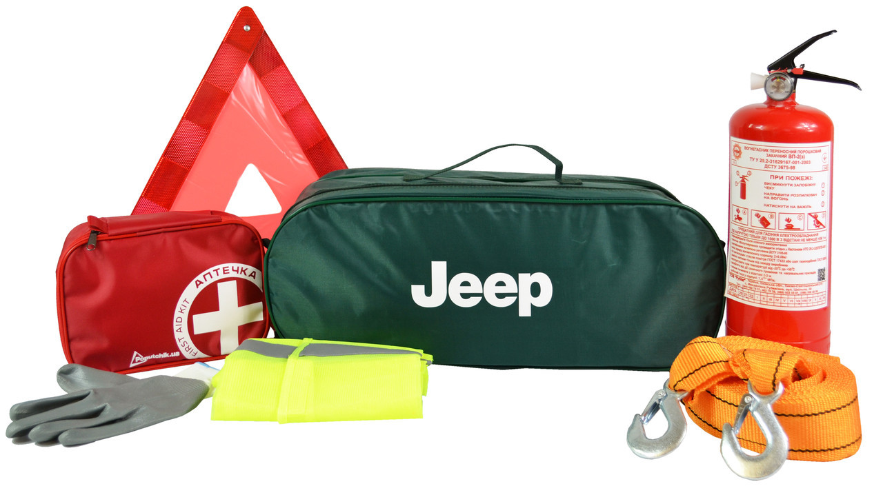 Сумка-набір автомобіліста Джип кроссовер 01-117-K зелений