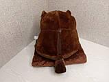 Плед - мягкая игрушка 3 в 1 (Бобёр коричневый), фото 2