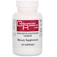 Магний-калий таурат, Cardiovascular Research Ltd., 60 капсул.