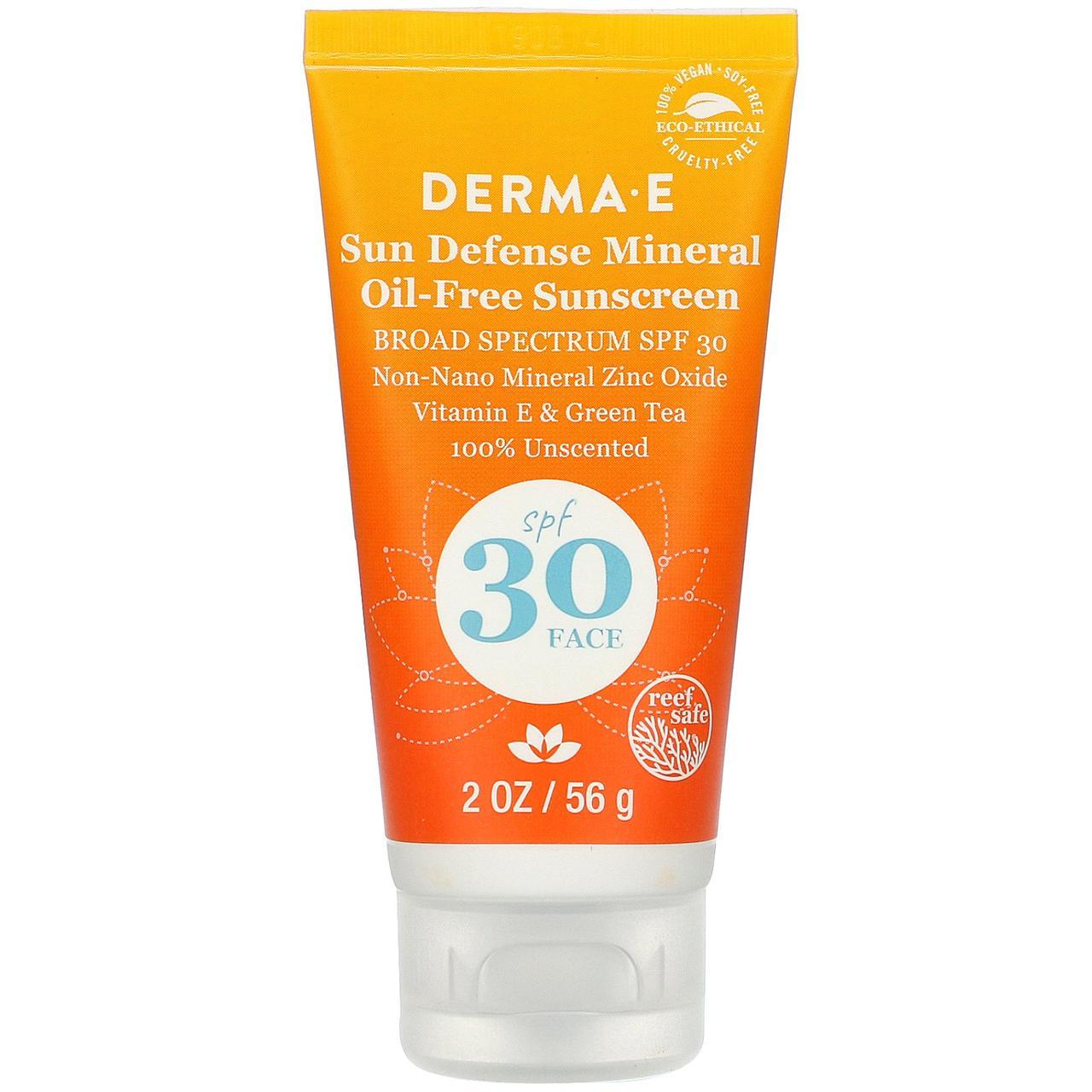 Сонцезахисний крем антиоксидант (Sunscreen), Derma E, 56 г