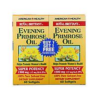 Масло вечерней примулы (Evening Primrose Oil), American Health, 2 бут. по 60 кап.