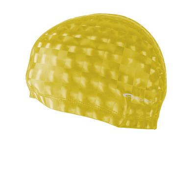 Шапочка для плавания Spokey Torpedo 3D для взрослых Onesize Желтая (s0137)