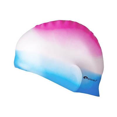 Шапочка для плавания Spokey Abstract для взрослых Onesize Разноцветная (s0128)