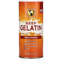 Great Lakes Gelatin Co., Коллаген для суставов и связок Beef Hide Gelatin, без вкусовых добавок, 454 г