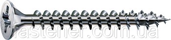 Саморез SPAX с покр. WIROX 3,5х25, полная резьба, потай, PZ2, 4CUT, упак. 1000 шт., пр-во Германия