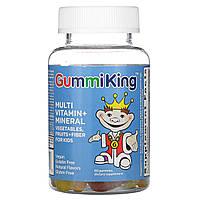 Витаминно-минеральный комплекс для детей, с клетчаткой, Gummi King, 60 жевательных конфет