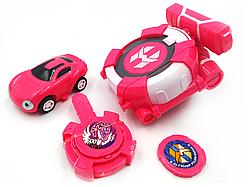 Вотчкар игрушка (машинка Сона и Ари) + запускалка Лига Watch Car Розовая