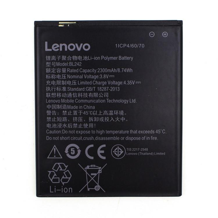 Акумулятор BL242 для Lenovo A6000/A3860/A3580/A3900/A6010/A6010 Plus 2300 mAh (02308)