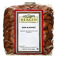 Сырой миндаль,  Raw Almonds, Bergin Fruit and Nut Company, 454 г