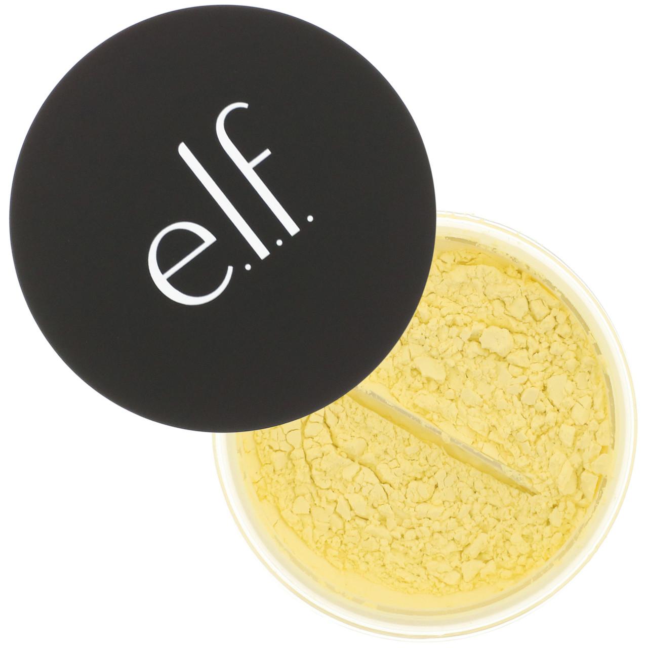 Рассыпчатая пудра для лица, E.L.F. Cosmetics, корректирующая желтая 8 г