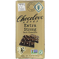 Экстра черный шоколад, Extra Strong Dark Chocolate, Chocolove, 90 г