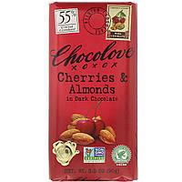 Черный шоколад с вишней и миндалем, Dark Chocolate, Chocolove, 90 г