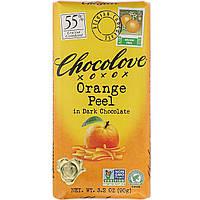 Черный шоколад с апельсином, Dark Chocolate, Chocolove, 90 г