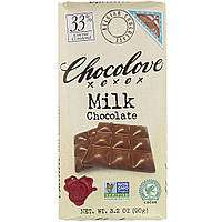 Молочный шоколад, Milk Chocolate, Chocolove, 90 г