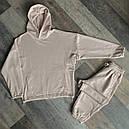 Спортивный костюм мужской бежевый сезон весна осень Оверсайз (oversize) от бренда Тур, размеры: XS,S,M, L, XL, фото 9