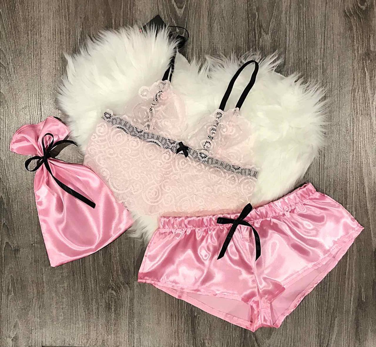 Комплект нижнего белья розовый кружевной пакеты для вакуумные упаковщики