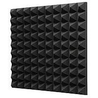 Акустический поролон EchoFom Пирамида 70 мм 50x50 см Черный графит