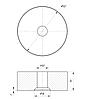 ODF-06-36-01-L20 Дистанція 20 мм для коннектора діаметром 50 мм з різьбою М12, сатин, фото 2