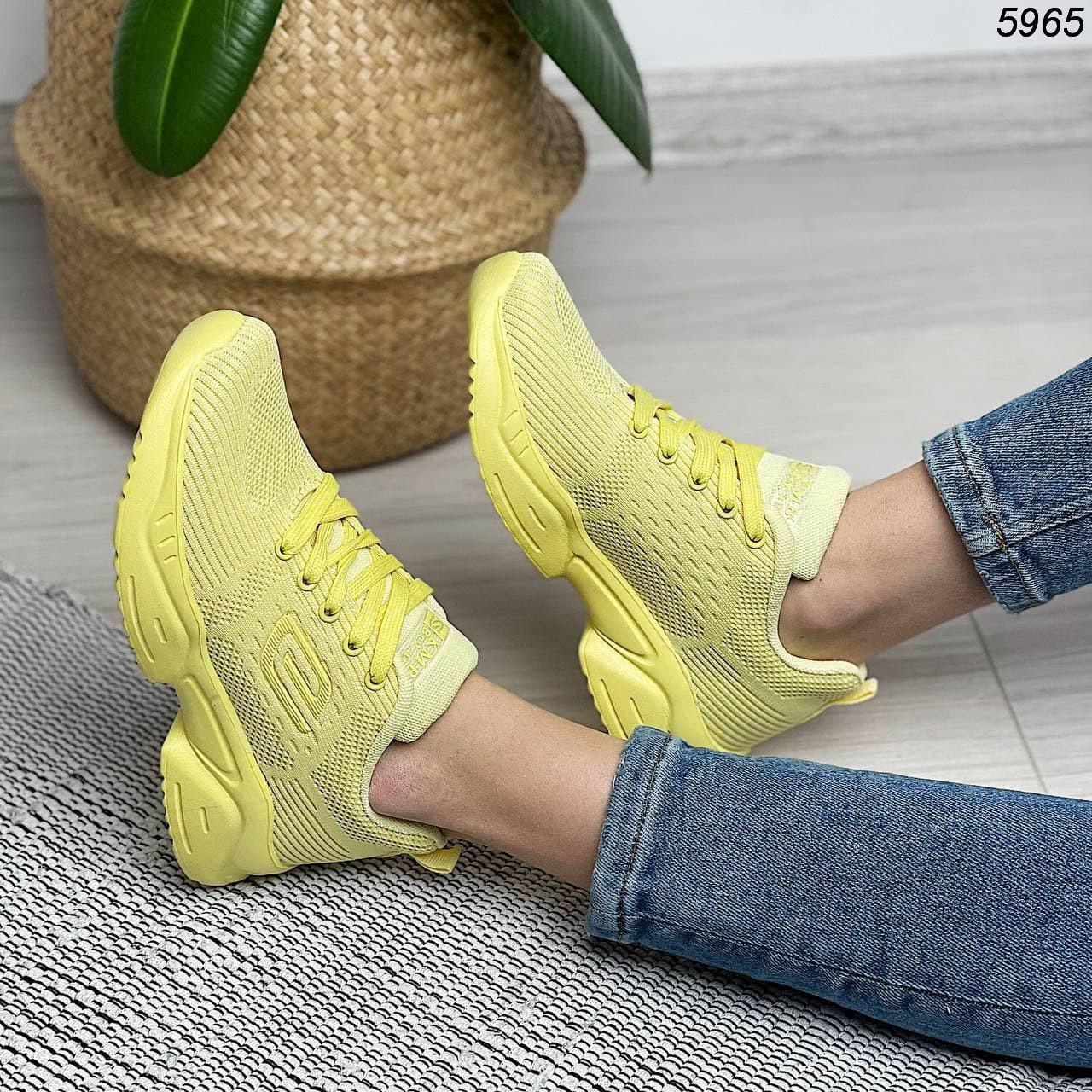 Желтые кроссовки женские 5965 (ВБ)