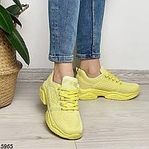 Желтые кроссовки женские 5965 (ВБ), фото 2