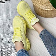 Желтые кроссовки женские 5965 (ВБ), фото 3