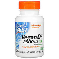 Вітамін Д3, Doctors Best, 2500 МО, 60 капсул