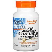 Куркумин С3 комплекс, Doctors Best, 500 мг, 120 кап.