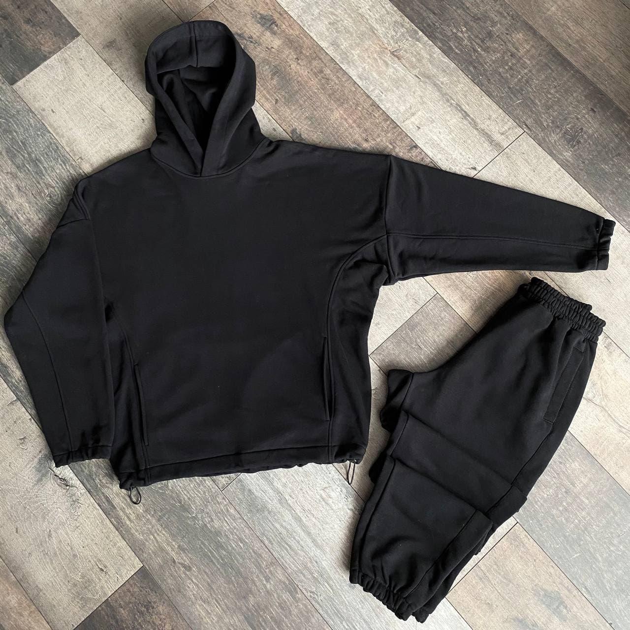 Спортивный костюм мужской черный сезон весна осень Оверсайз (oversize) от бренда Тур