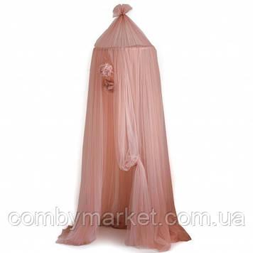 Балдахин шатер Twins с креплением и помпонами Розовый