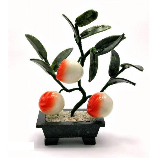 Персик Kanishka 18х19х7 см Оранжевый с зеленым и белым (18612)