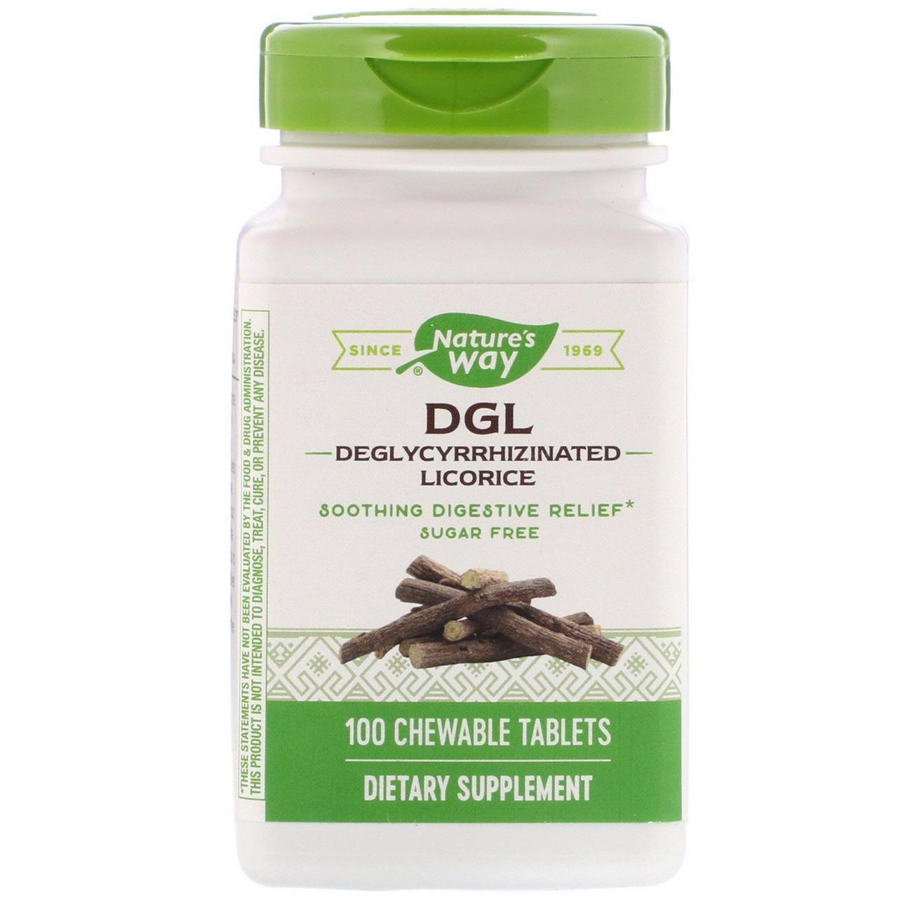 Корень солодки (DGL, Deglycyrrhizinated Licorice), Enzymatic Therapy, 100 таблеток