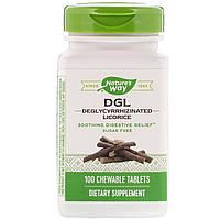 Корень солодки (DGL, Deglycyrrhizinated Licorice), Enzymatic Therapy, 100 таблеток, фото 1