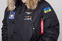 Тепла парка Olymp - Аляска N-3B, Куртка Чоловіча зимова з нашивками, патчі, зимова куртка