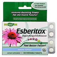 Укрепление иммунитета Esberitox, Enzymatic Therapy, 100 жеват. таблеток