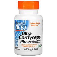 Лечебные грибы кордицепс, Doctors Best, 60 кап.