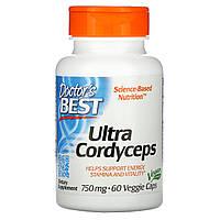 Кордицепс улучшенного действия, Doctors Best, Ultra Cordyceps, 60 капсул