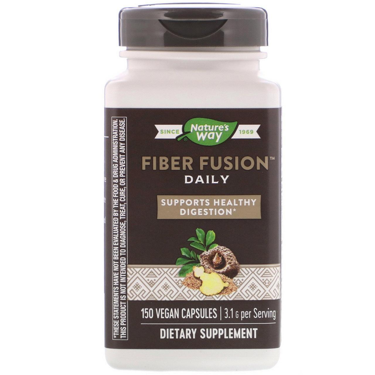 Очищення організму Fiber Fusion Plus, Enzymatic Therapy, 120 капсул