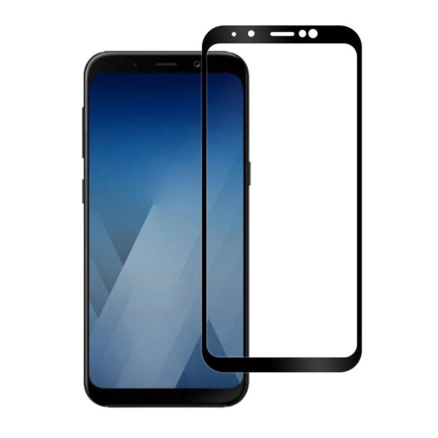 Захисне скло Full Glue Full Screen Glass для Samsung Galaxy A6 Plus 2018/A605 Black (PG-000610)