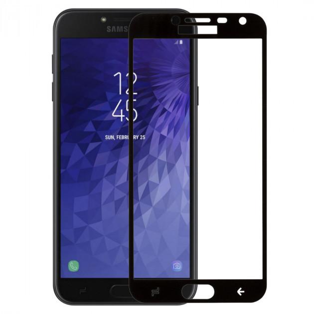 Захисне скло Full Glue Full Screen Glass для Samsung Galaxy J4 2018/J400 Black (PG-000714)